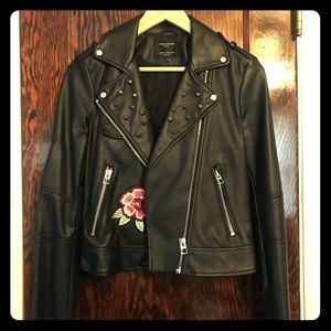 Zara Faux Leather Moto Jacket